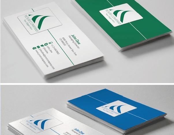 Flat Corporate Business Card Template illustrator Vector