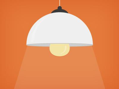 Flat Icon Lamp illustration PSD