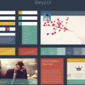 Flat Web Elements & UI Kit PSD