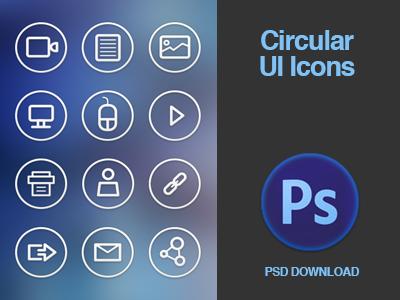 Free Circular Icon Set PSD