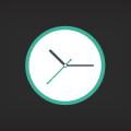Free Clock Flat Icon PSD