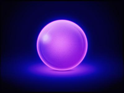 Free Glow Ball PSD