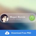 Free Message Widget PSD