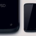 Free Mobile HTC Phone Mockup PSD