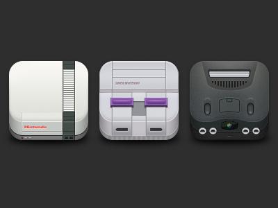 Free Nintendo icons PSD