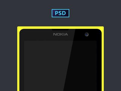 Free Nokia Lumia PSD Template