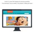 Free PSD - Clean Personal Portfolios WebsiteTemplate