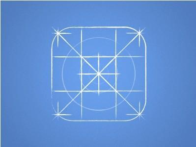 Free iOS 7 Icon Grid Blueprint PSD