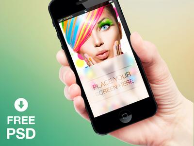 Free iPhone Mockup PSD Download