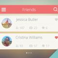 Friends List User Interface PSD