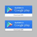 Google Play UI Button PSD