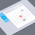 Photoshop Calendar UI Design PSD