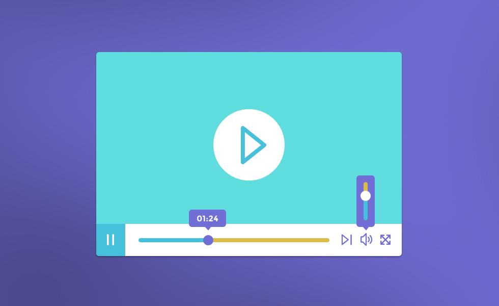 Photoshop PSD Video Player UI Design & Elements