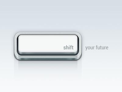 Shift Key Button PSD