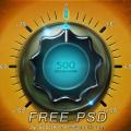 Vintage Knob Free PSD
