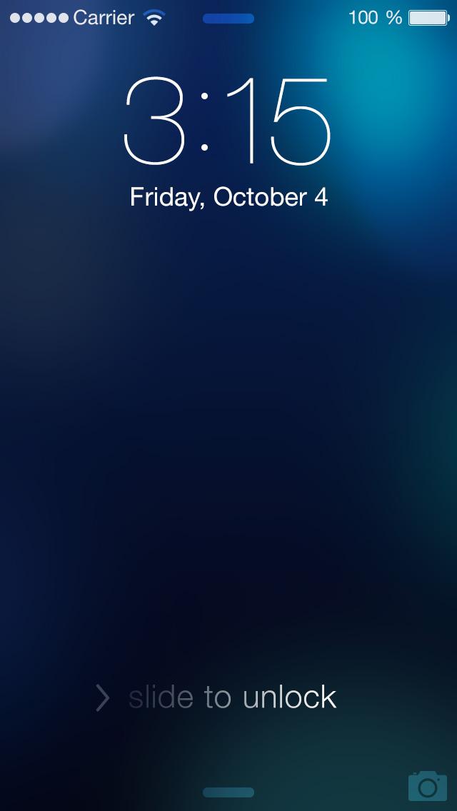 iOS 7 Lockscreen Template Themes