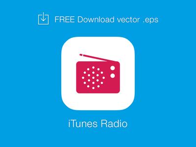 iTunes Radio Logo Vector EPS