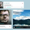 Multimedia Audio Video Player PSD Freebie