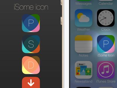iOS 7 App Icon PSD Template