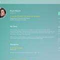 Free PSD Profile Template Design