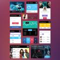 Free UI Kit PSD:Profile,Calendar,Audio & Video Player