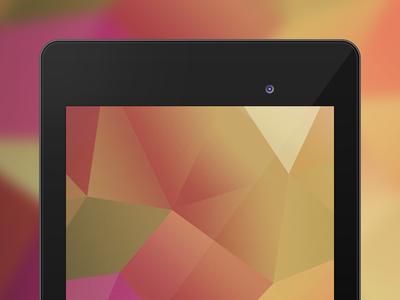 Google Nexus 7 PSD Mockup Template