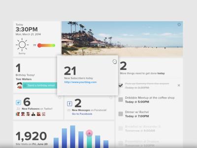 Home Screen Launcher Widget Dashboard