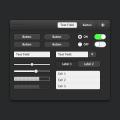 Dark UI Kit Sketch Free Download