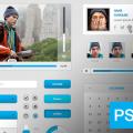 Free Blue UI Kit PSD Download