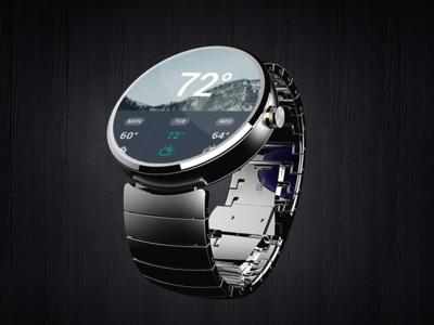 PSD Moto360 Smart Watch Mockup