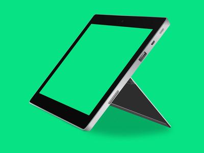Surface 2 Tablet Vector Mockup