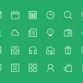 Thin Glyphs Icon Set PSD