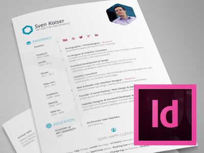 Vita / Resume Indesign Template Free Download