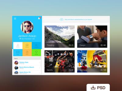 Dashboard PSD Webapp Profile