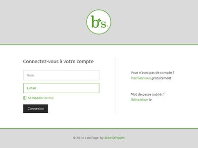 Free Login Page PSD