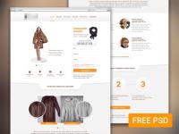 Furfur – Landing Page PSD
