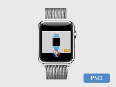 Apple Watch .PSD Mockup Template