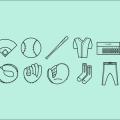 Baseball Icons Vector AI SVG & PNG