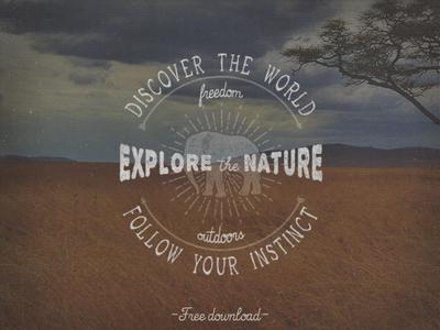 Explore Nature Logo PSD & Vector AI