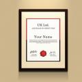 Free Certificate Frame Mockup