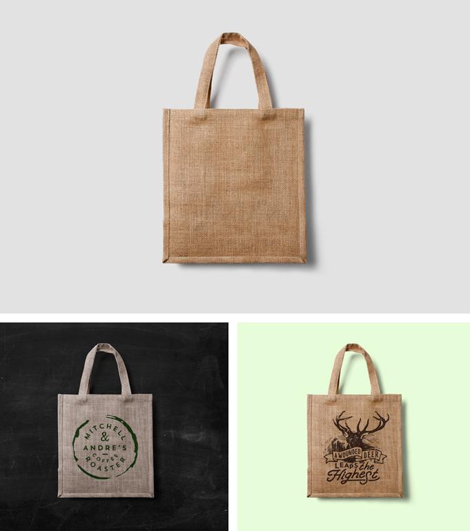 Free Eco Bag Mockup Template PSD