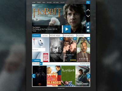 Movie Theme Free Movie Website PSD Template