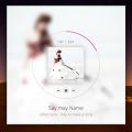 Free Music Player PSD With Album Light Dark