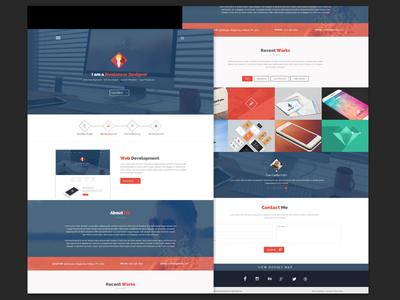 Free PSD – Portfolio Flatstyle Web Design