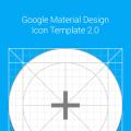 Google Material Design Icon Grid Template Vector AI