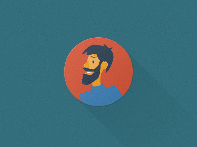 Male avatar - Flat Avatars Set Vector AI & PSD