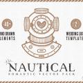 Nautical Pack – 40+ unique hand drawn vector elements