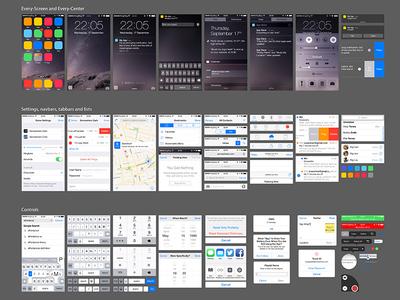 PSD of iOS 8 UI Kit UI Elements