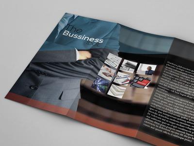 Tri-Fold Business Brochure Template Vector EPS