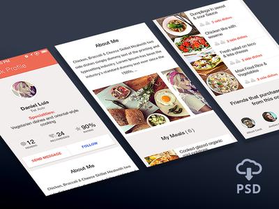 App User Profile – Free Psd